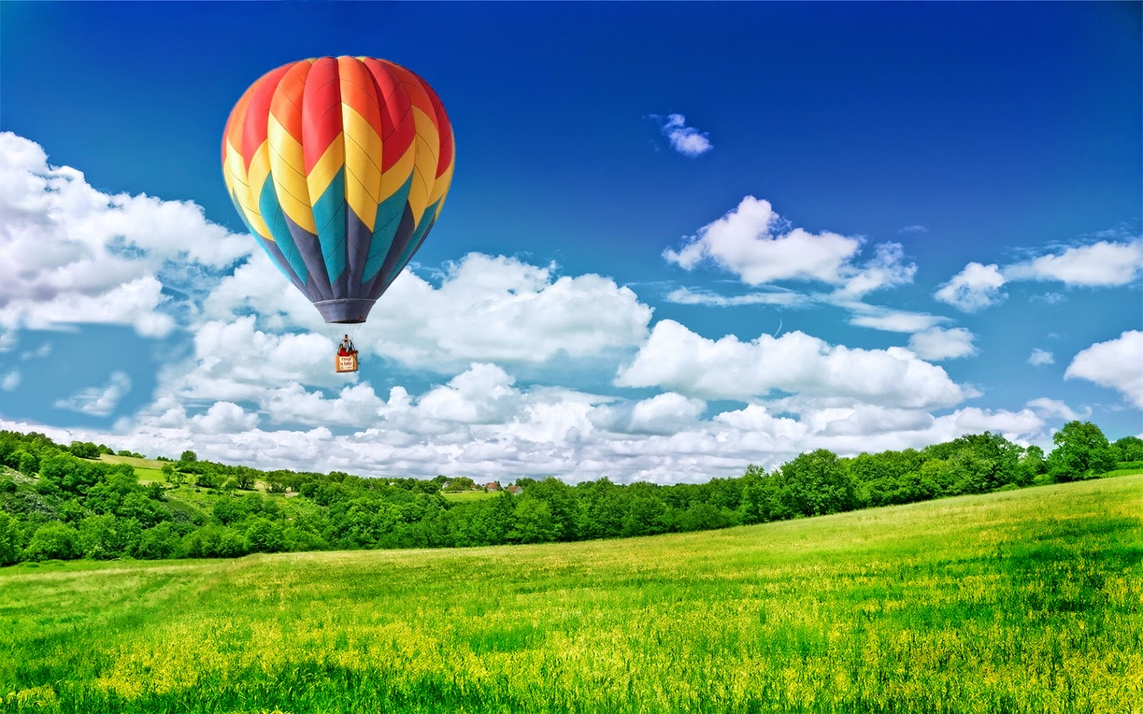 balloon in sky wide