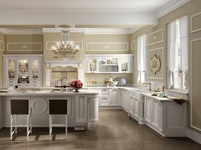 Meubles de cuisine - Cuisine campagnarde blanche ...