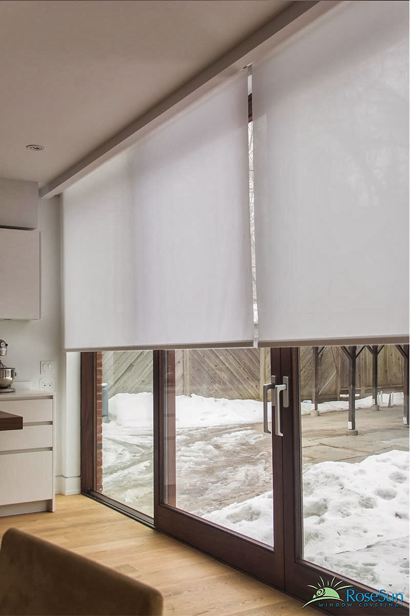 Motorized window treatments internal and outdoors for Motorized blinds shades