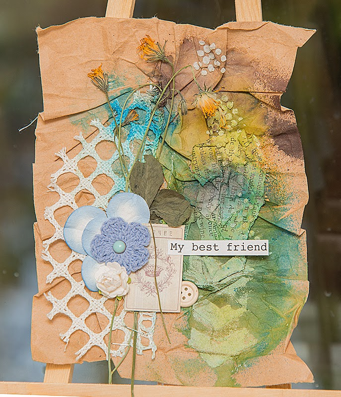 Открытки с сухими цветами 57