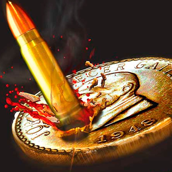 Ilustración y diseño de portada. A sangre y fuego