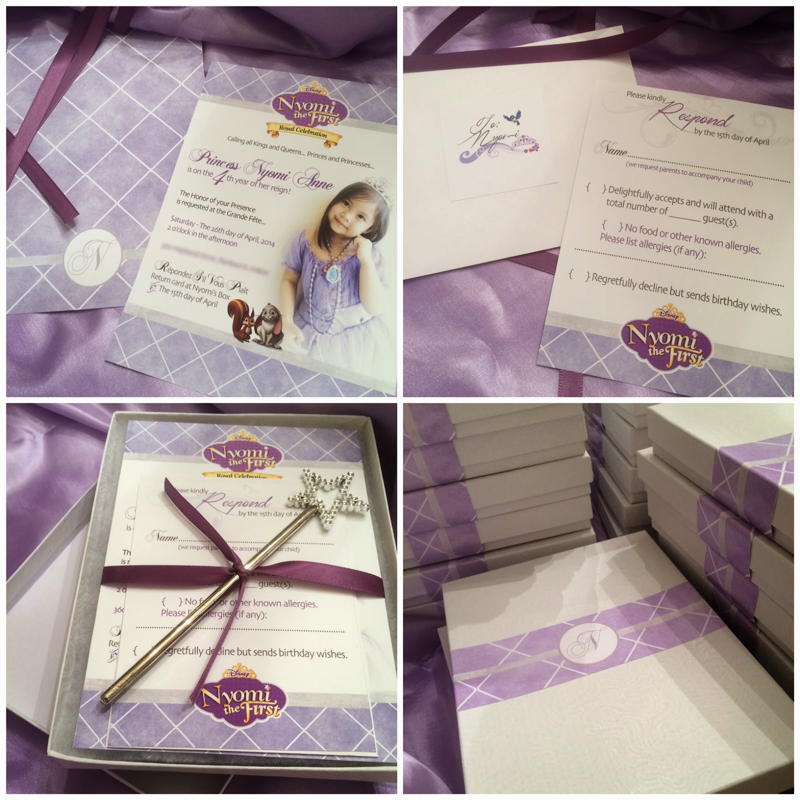 Aubzielation Nyomis Princess Sofia The First Inspired Th Birthday - Sofia the first party invitation template
