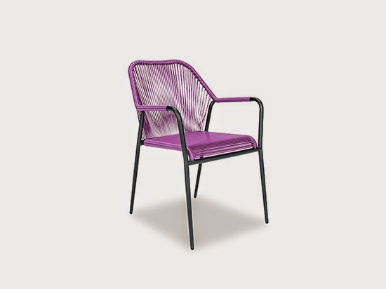 scandinavian purple chair