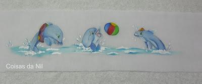 """fralda pintada golfinhos"""