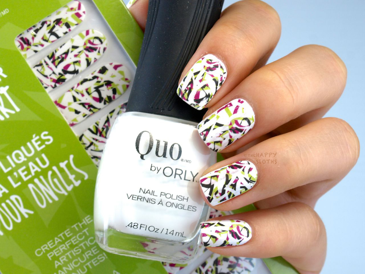Quo By Orly Water Transfer Nail Art In Mischief Review And