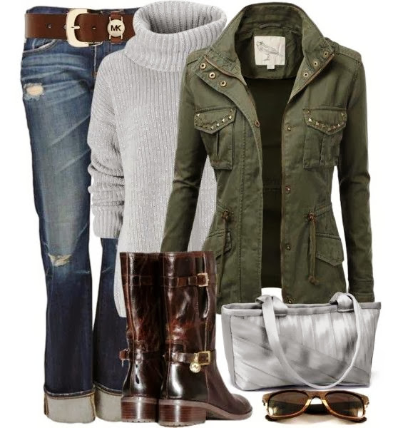 Winter fashion trend with slouchy sweater and jacket