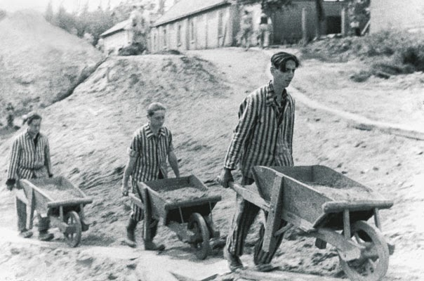 why the prison camps during the German pows watching footage of the concentration camps in 1945 in 1933, the first nazi concentration camp was built in dachau, germany to imprison dissidents.