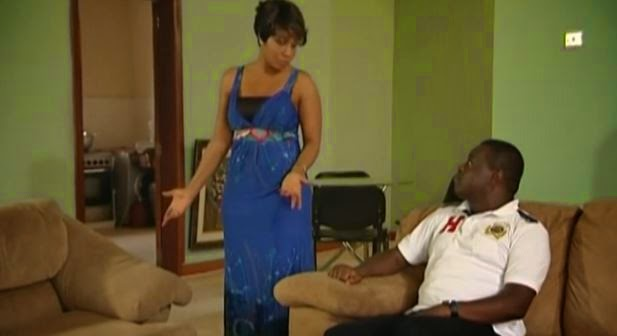 """Screen capture from Nollywood film """"Secret"""" - It had almost 200,000 views on  YouTube after only one month. (Screen capture from YouTube video)"""
