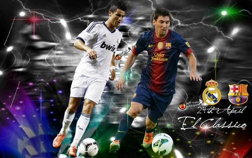 Cristiano Ronaldo Vs Lionel Messi 2013 Wallpaper
