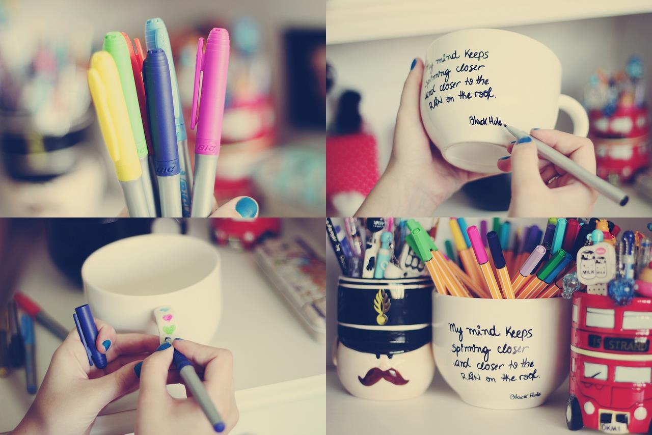 Você pode usar canetas para escrever frases desenhar e soltar a  #A82344 1280x854
