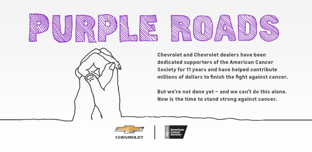 Join Chevrolet On Purple Roads Against Cancer