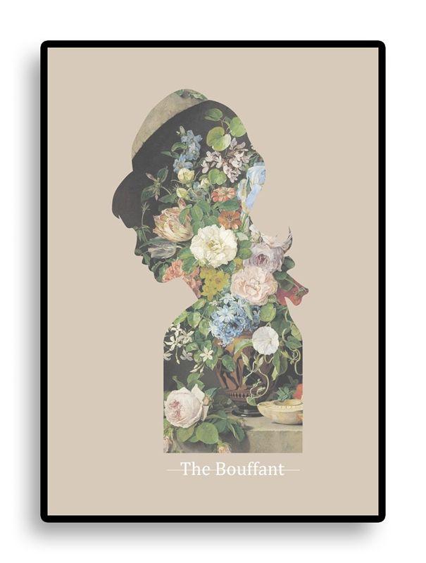 kunst print med blomster og lyse forårsfarver