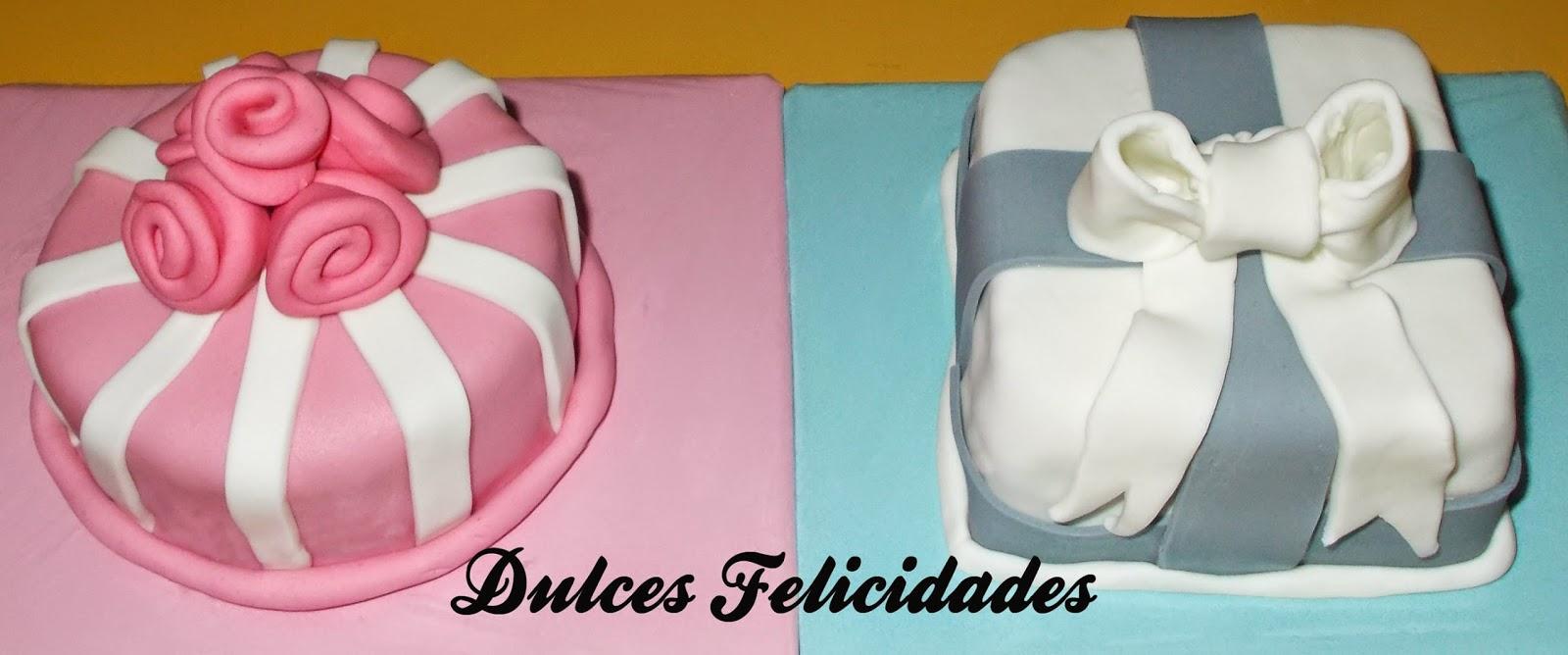 Mini tarta o mini Cake decorada con fondant