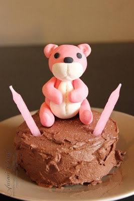 mini teddy cake