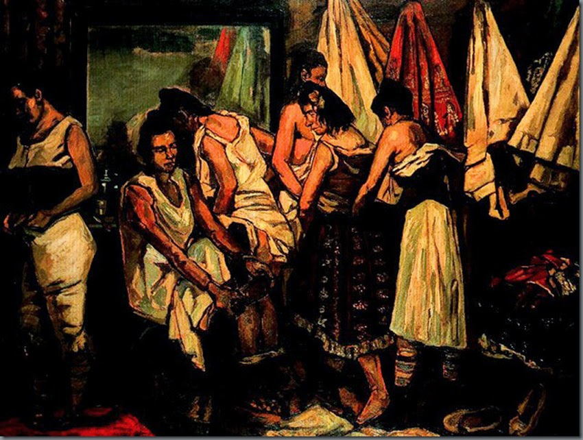 gemelas prostitutas prostitutas en la pintura