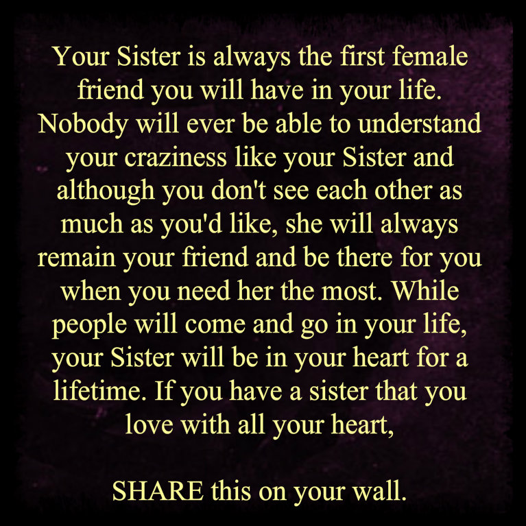 facebook sister wall quotes quotesgram