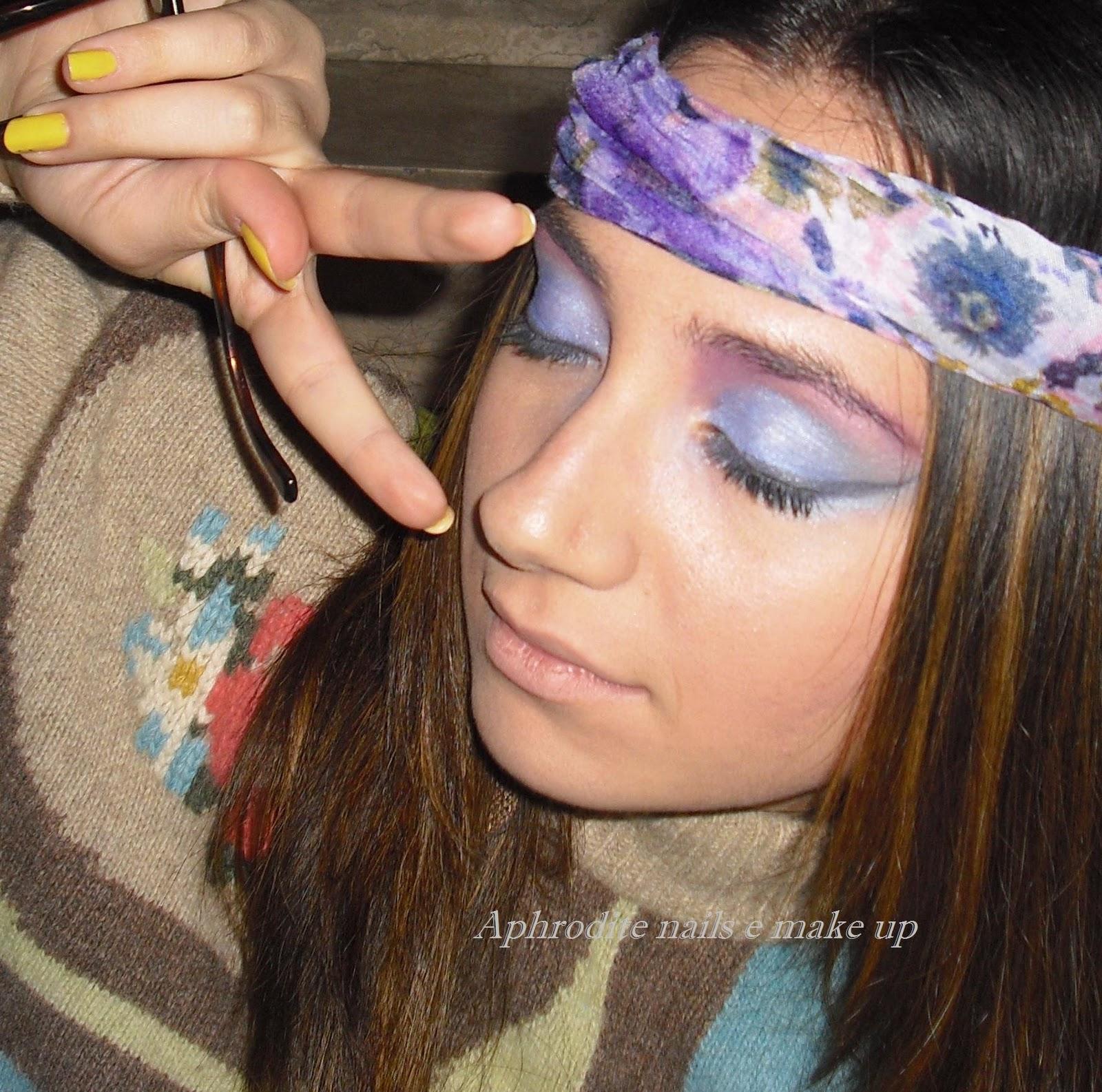 Стиль хиппи в макияже фото