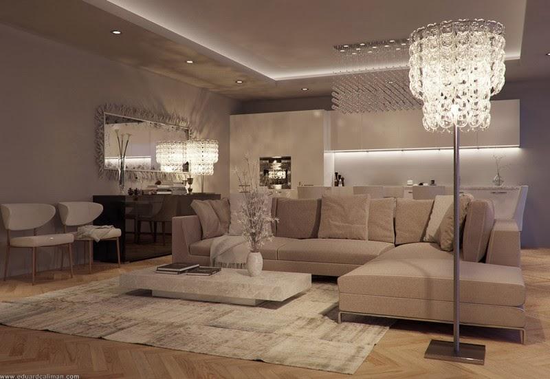 Sala De Estar Arquitectura ~ Diseño de Interiores & Arquitectura Una Lujosa Sala De Estar Con Un