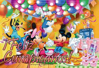tarjeta de cumpleaños de mickey y minie