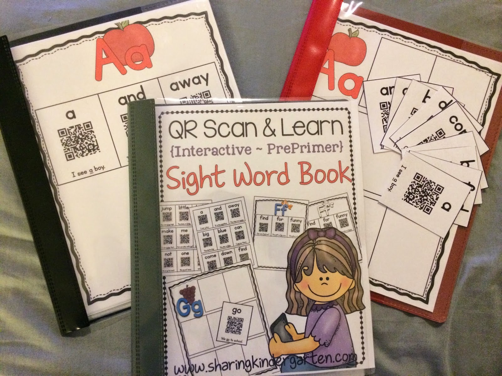 http://www.teacherspayteachers.com/Product/QR-Scan-Learn-Interactive-Sight-Word-Book-PrePrimer-1304797