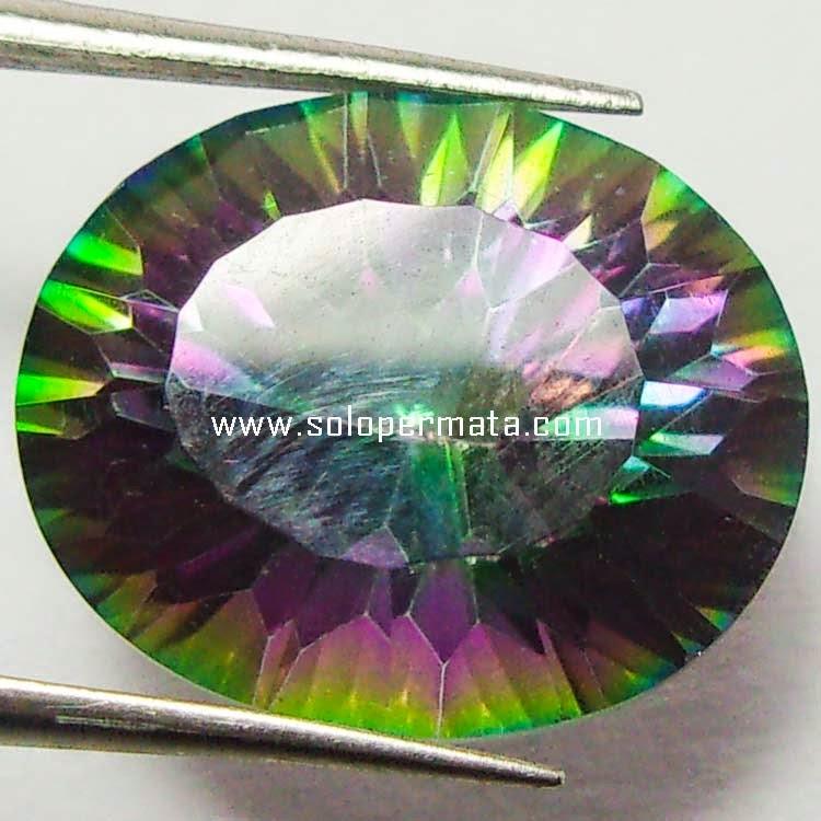 Batu Permata Rainbow Mystic Quartz - Sp071