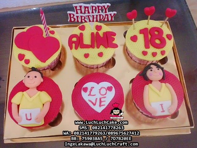 Cupcake Ulang Tahun Romantis Untuk Kekasih Daerah Surabaya - Sidoarjo
