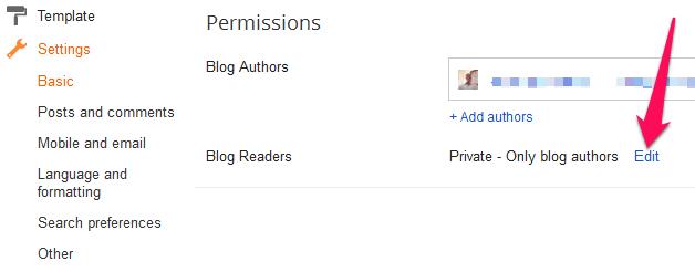 Blogger Permissions