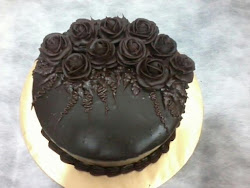 Chocolate Moist Cake and Roses