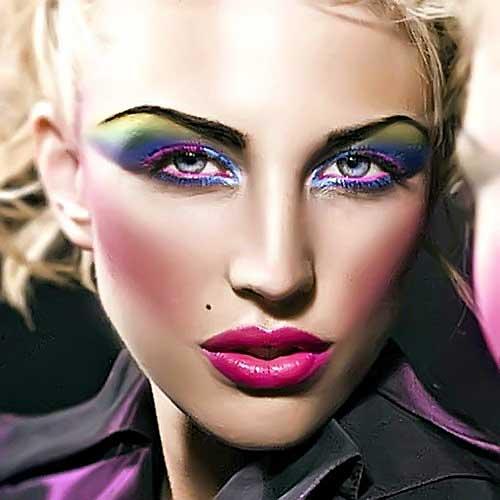 maquillaje años 80 carnaval