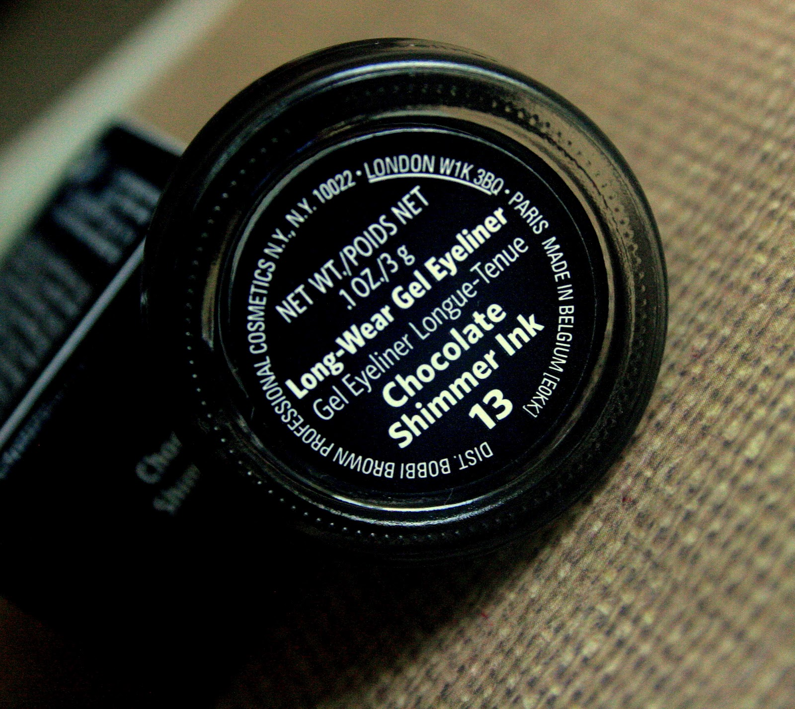Bobbi Brown Long-Wear Gel Eyeliner in Chocolate Shimmer Ink