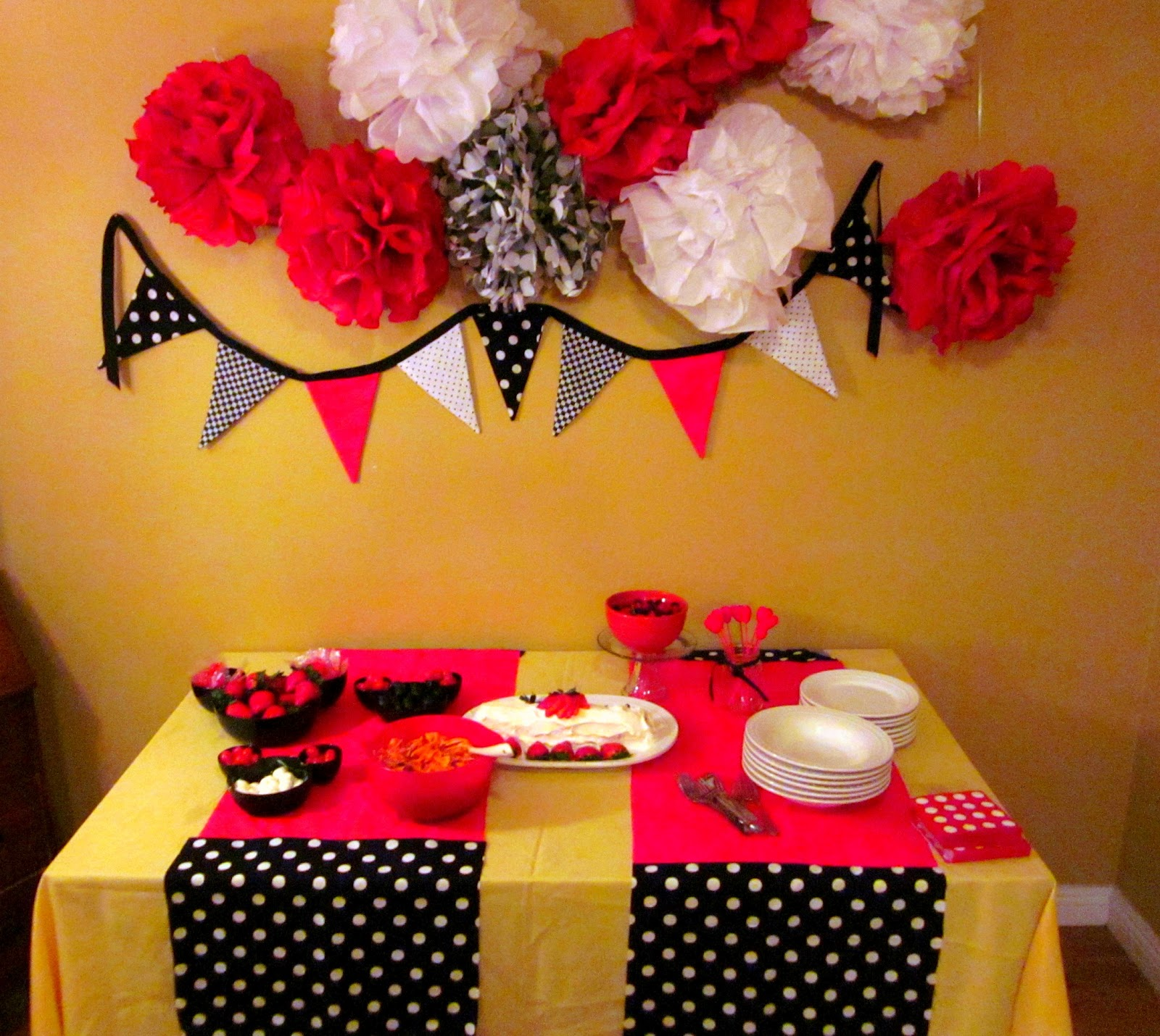 Pink And Black Minnie Mouse Decorations Mickey Mouse Food Table Plutos Pinwheels Mickeys Pasta Salad