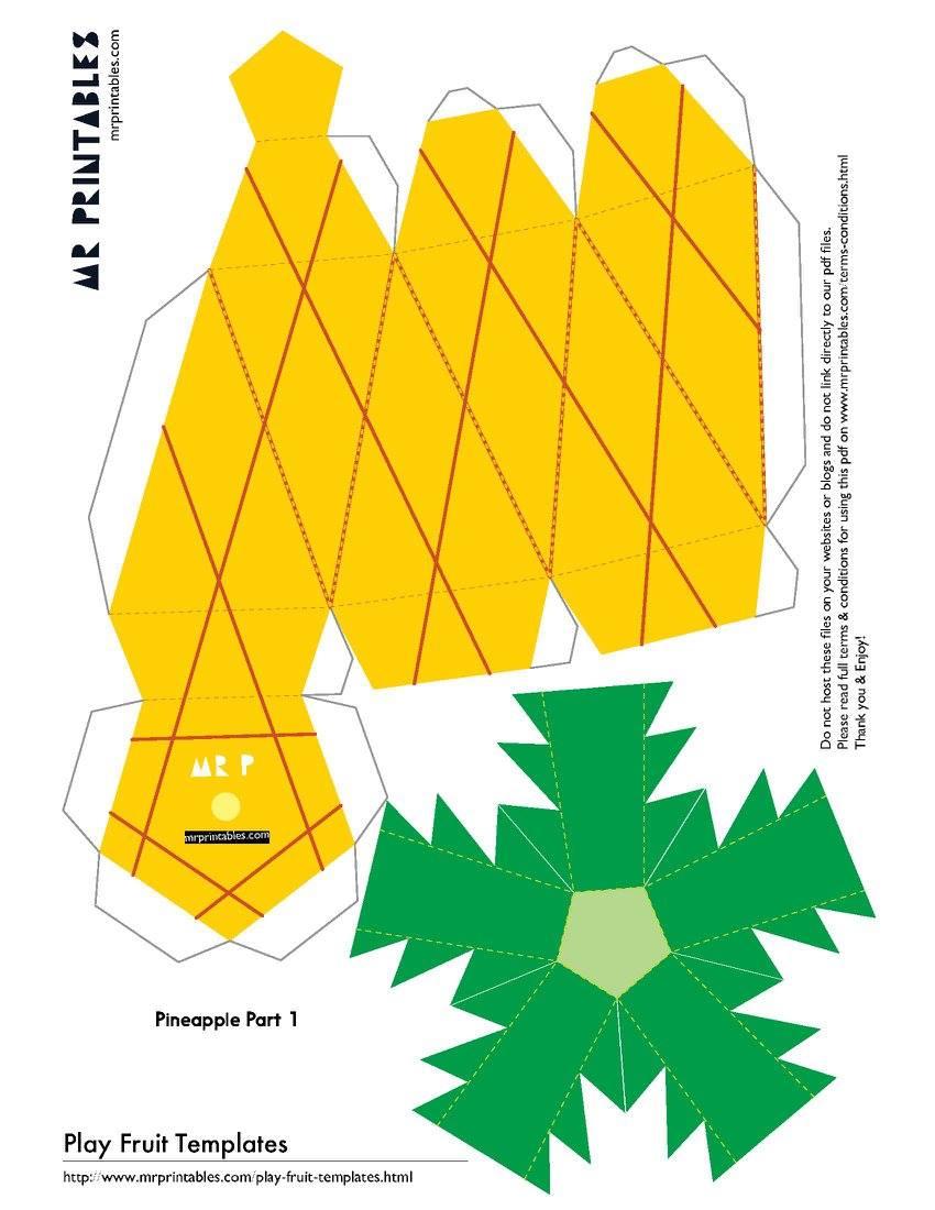 Как сделать ананас из бумаги своими руками