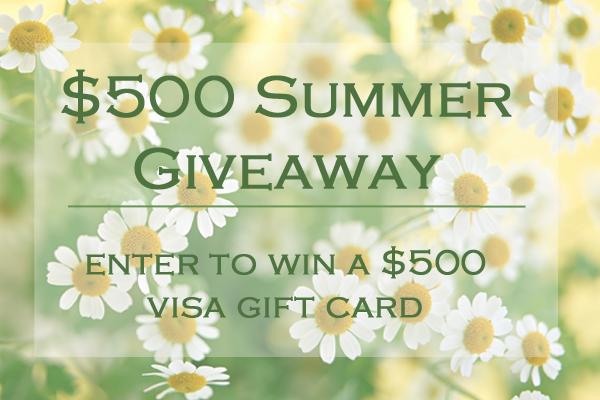 $500 Visa Summer Giveaway