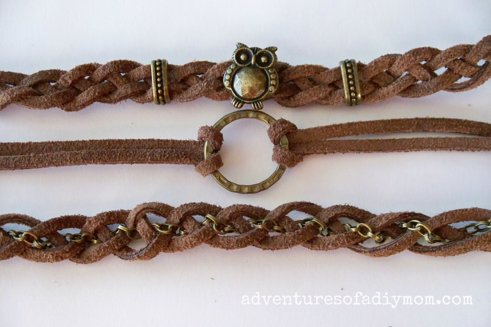 How to Make Braided Leather Stacked Bracelets