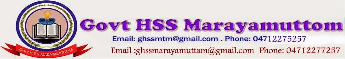 GHSS MARAYAMUTTOM