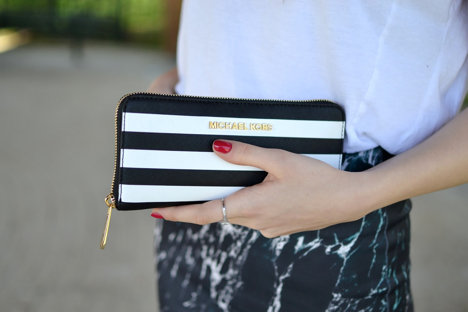 Michael Kors Striped Wallet