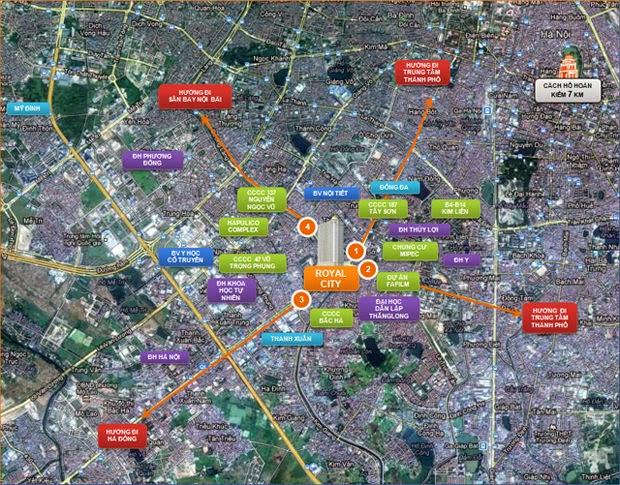 Royal+City Map Chung cư Royal City Phân phối trực tiếp từ nhà đâu tư
