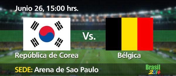 Partido Corea del Sur vs Bélgica
