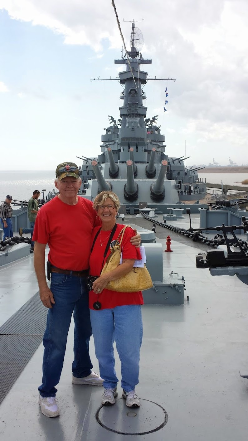 Aboard the USS ALABAMA
