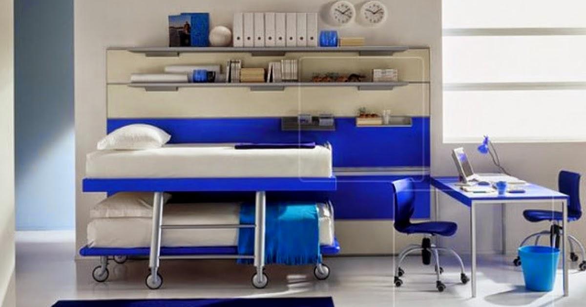 Chambre Double Fille Ado Blanc Et Bleu Chambre De Fille