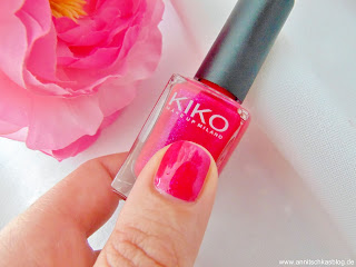 KIKO Nagellack - intensives Pink mit Schimmer - www.annitschkasblog.de
