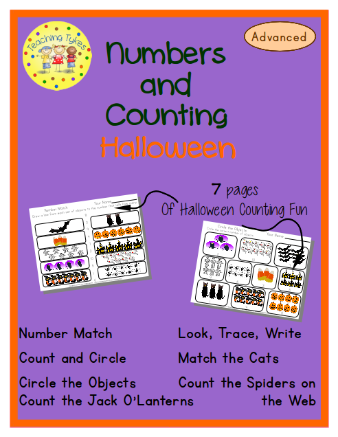http://www.teacherspayteachers.com/Product/Halloween-Numbers-and-Counting-Advanced-EditionCommon-Core-Aligned-972304