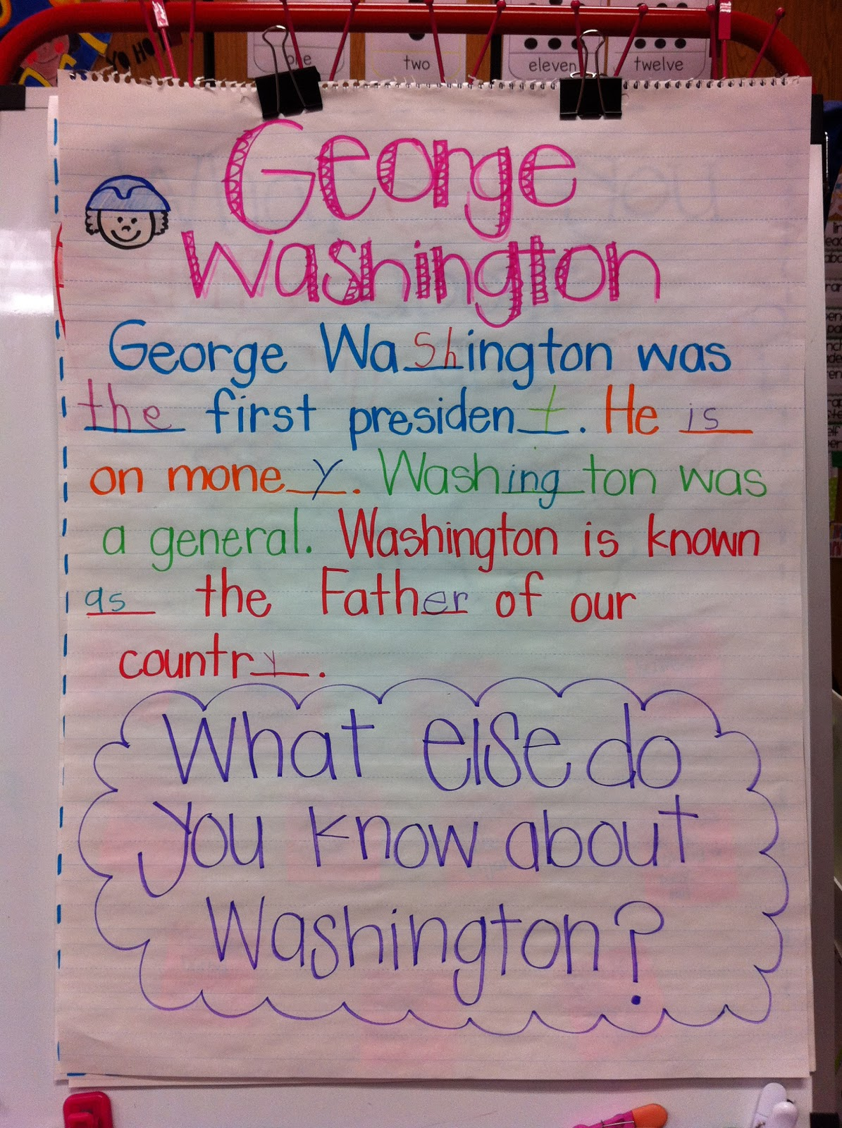 a message for general washington