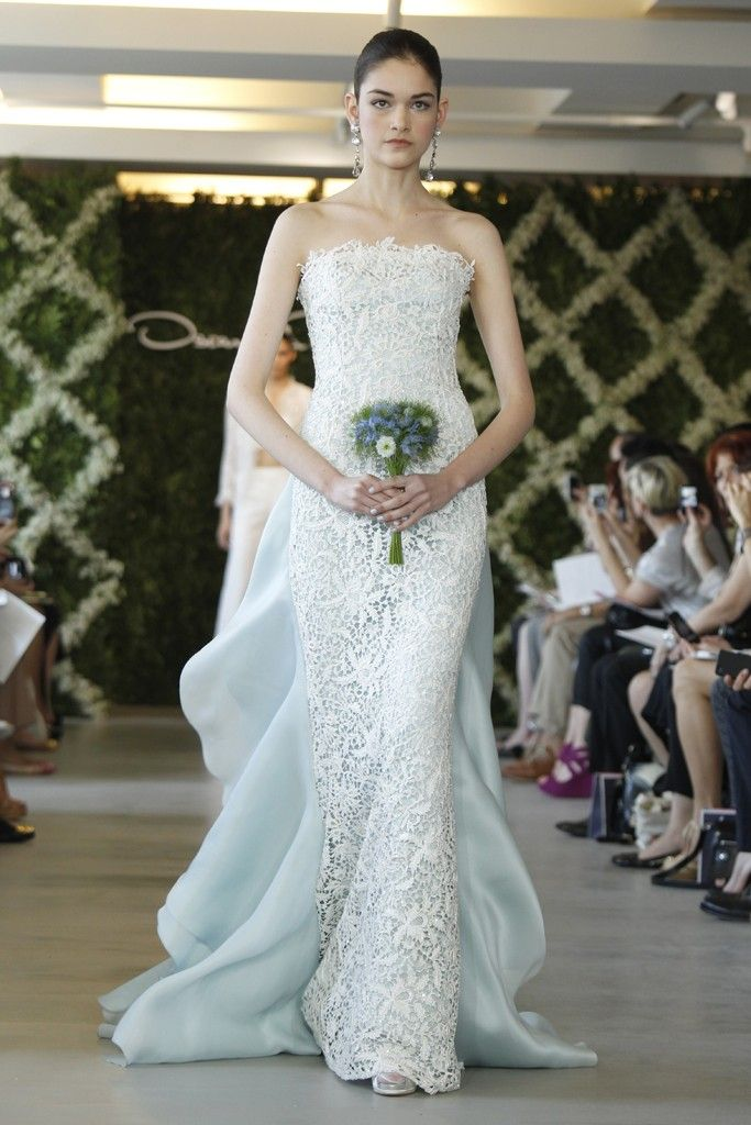 Special wedding gowns two tone dresses 2013 wedding trend for Light blue and white wedding dresses