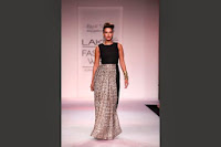 Sizzling actress Neha Dhupia walk the ramp at Lakme Fashion Week 2014 for Payal Singhal