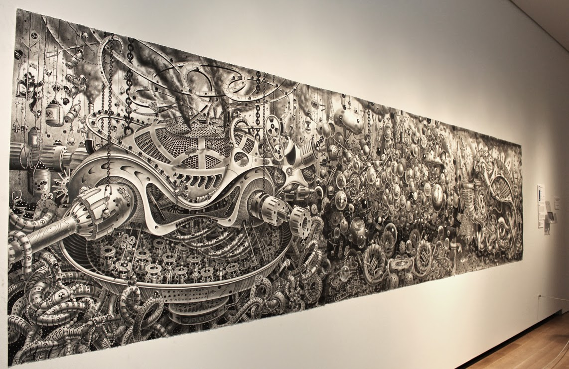 06-Deadpan-Comedy-Tryptic-Samuel-Gomez-Massive-Detailed-Drawings-and-a-Guitar-www-designstack-co
