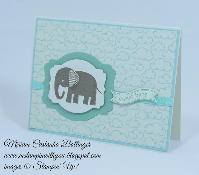 Miriam Castanho Bollinger, #mstampinwithyou, stampin up, demonstrator, ppa, baby card, sweet li'l things dsp, zoo babies, itty bitty banners, big shot, deco labels collections, bitty banners, su