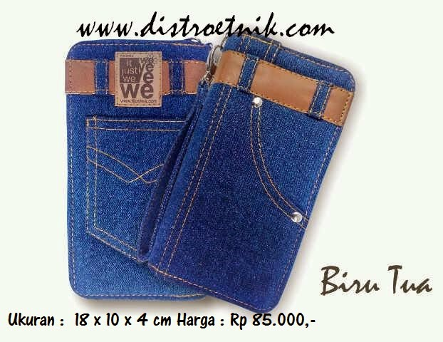 dompet jeans it just we classic series biru tua