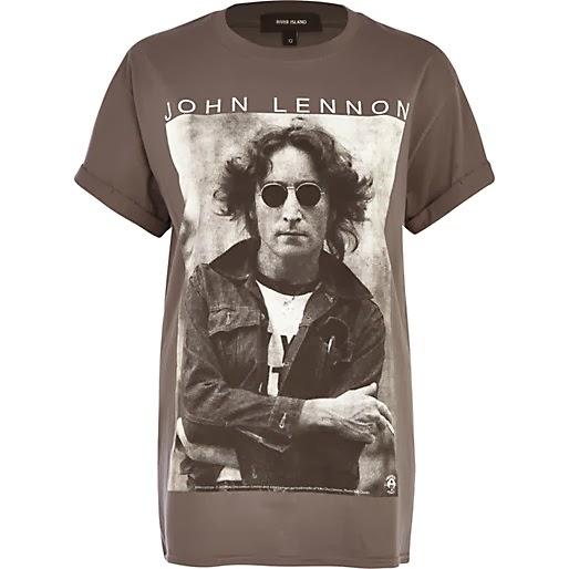 River Island Grey John Lennon Tee