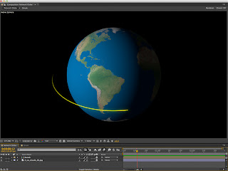 Building networks orbiting the globe in Adobe After Effects compositing system.